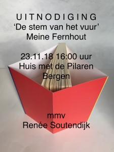 uitnodiging 23.11.18 De Pilaren