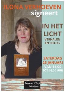 2019-01-26 Ilona Verhoeven signeert
